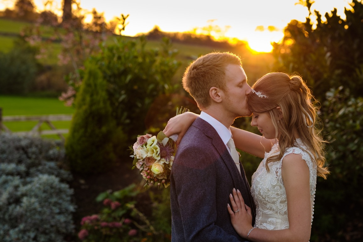 Sunset at Peak Edge Wedding photography by Sheffield wedding photographer Chris Loneragan Peak District wedding