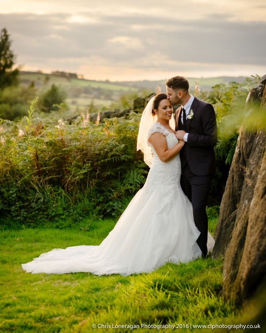 Sheffield wedding photographer at Peak Edge Hotel sunset 23092016-1 edge