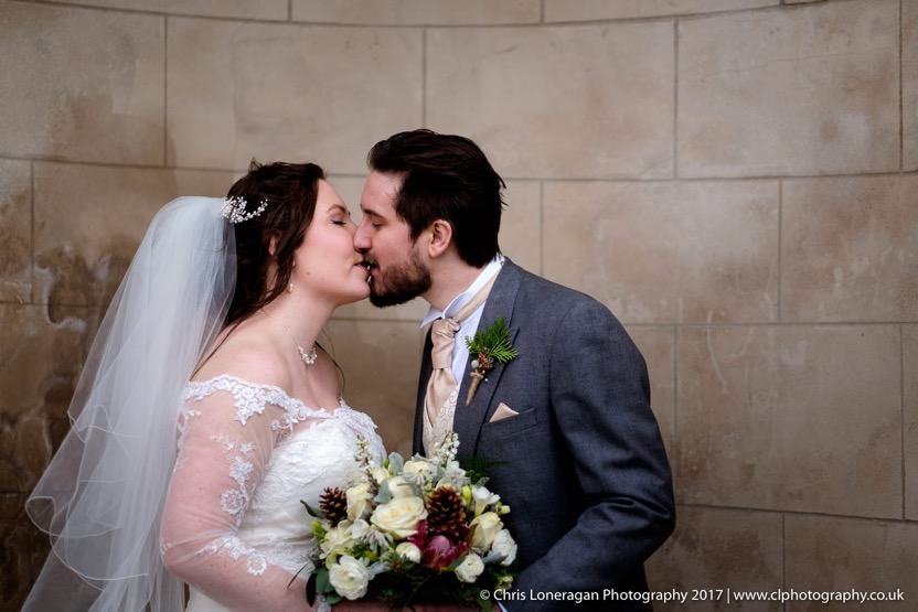 Sheffield wedding photographer Christmas wedding at Ringwood Hall