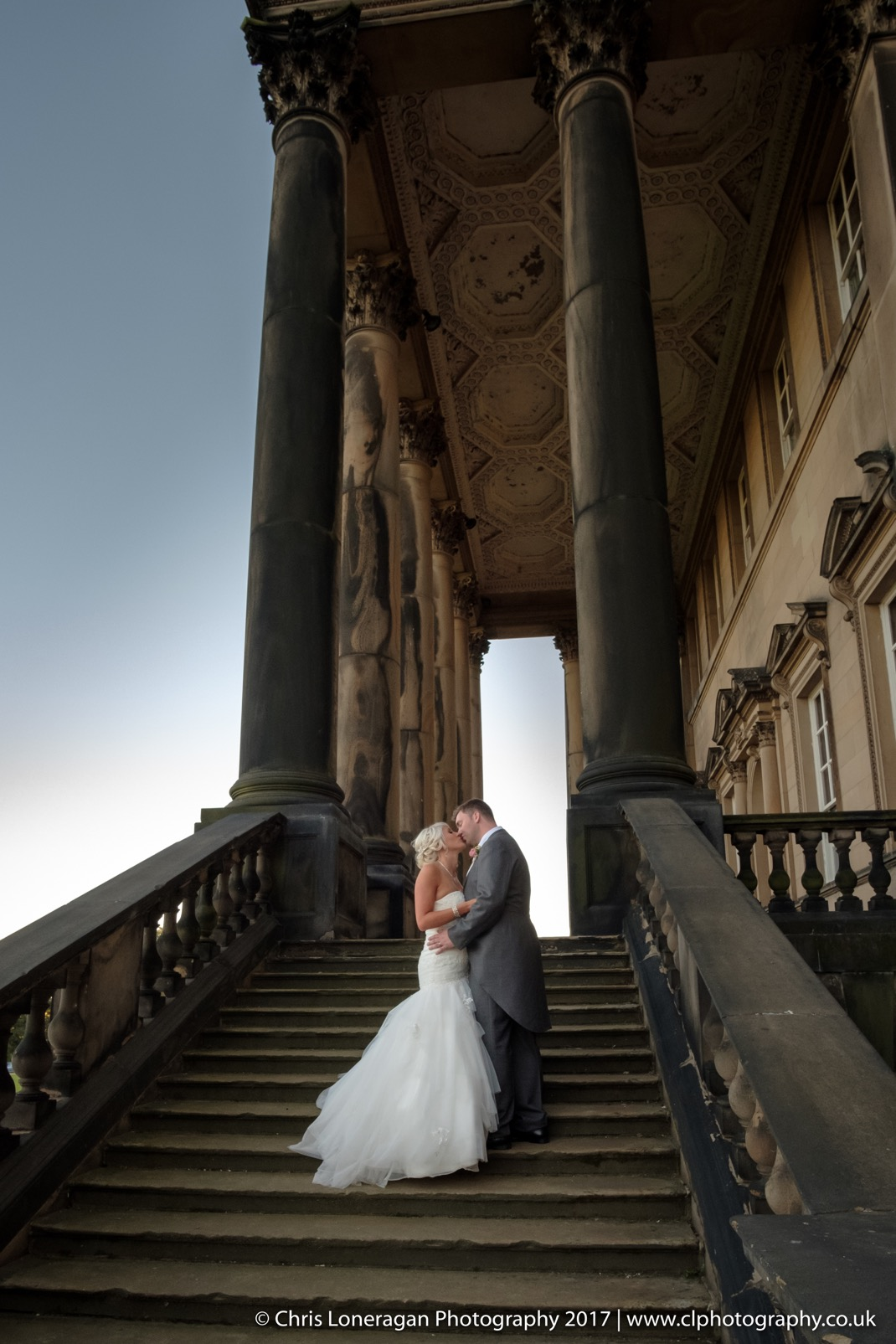 Wentworth Woodhouse wedding photographer grand portico by Sheffield wedding photographer 0817 edge